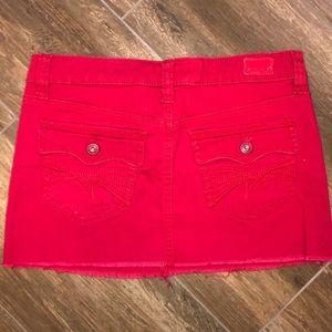 3 Juniors Red Refuge jean denim mini skirt